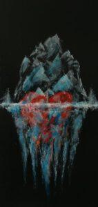 c(r)ool-love, 2020, Acryl auf Leinwand, 50x100cm
